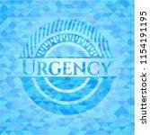 urgency realistic light blue... | Shutterstock .eps vector #1154191195