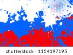 russian flag in grunge style.... | Shutterstock .eps vector #1154197195