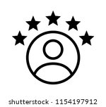 customer experience or 5 star... | Shutterstock .eps vector #1154197912