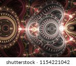 glossy red steampunk fractal... | Shutterstock . vector #1154221042