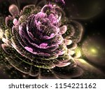 pink and gold fractal flower ... | Shutterstock . vector #1154221162