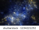 blue and yellow fractal galaxy  ... | Shutterstock . vector #1154221252