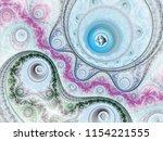 light fractal steampunk pattern ... | Shutterstock . vector #1154221555