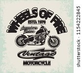 motorcycle racing typography... | Shutterstock .eps vector #1154222845