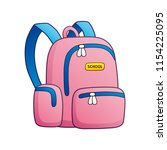 pink school bag vector isolated | Shutterstock .eps vector #1154225095