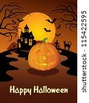 happy halloween greeting card... | Shutterstock .eps vector #115422595