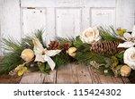 Christmas Flowers And Pine...