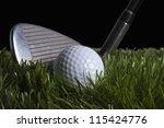 chipping golf ball | Shutterstock . vector #115424776