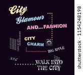 city glamour and fashion charm | Shutterstock .eps vector #1154248198