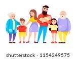 happy family. vector cartoon...   Shutterstock .eps vector #1154249575