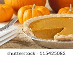 Fresh Homemade Pumpkin Pie Mad...