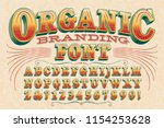 a stylish vintage styled 3d... | Shutterstock .eps vector #1154253628