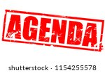 agenda word in red frame  3d... | Shutterstock . vector #1154255578