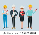 engineer and mechanics and... | Shutterstock .eps vector #1154259028