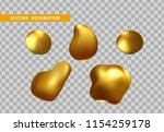 gold nuggets isolated on a... | Shutterstock .eps vector #1154259178