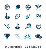 sports icons    azure series | Shutterstock .eps vector #115426765