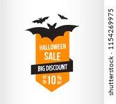 halloween illustration sale.... | Shutterstock .eps vector #1154269975