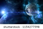 planets and galaxy  science... | Shutterstock . vector #1154277598