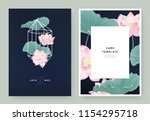 floral wedding invitation card... | Shutterstock .eps vector #1154295718