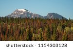 mount edith cavell as seen from ... | Shutterstock . vector #1154303128