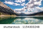 medicine lake in jasper... | Shutterstock . vector #1154303248