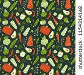 modern seamless pattern with... | Shutterstock .eps vector #1154314168