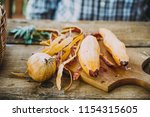 healthy food. chef is preparing ... | Shutterstock . vector #1154315605