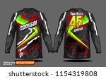 long sleeve motocross jerseys t ... | Shutterstock .eps vector #1154319808