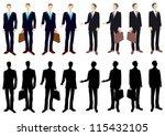 businessman silhouette   Shutterstock .eps vector #115432105