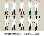 doctor silhouette | Shutterstock .eps vector #115432126