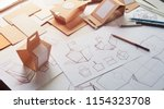 designer sketching drawing... | Shutterstock . vector #1154323708