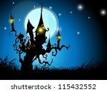 halloween night background with ... | Shutterstock .eps vector #115432552