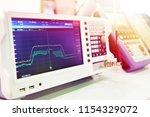 spectrum analyzer in the... | Shutterstock . vector #1154329072