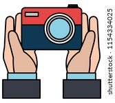 hand with camera photographic   Shutterstock .eps vector #1154334025