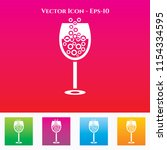 beer glass icon in colored... | Shutterstock .eps vector #1154334595