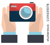 hand with camera photographic   Shutterstock .eps vector #1154335078