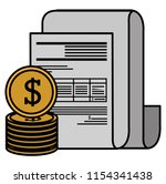 financial documents with coins | Shutterstock .eps vector #1154341438