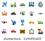 colored vector icon set  ... | Shutterstock .eps vector #1154351635