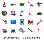 colored vector icon set  ... | Shutterstock .eps vector #1154351755