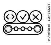 conveyor belt icon | Shutterstock .eps vector #1154352295