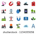 colored vector icon set   oil... | Shutterstock .eps vector #1154355058