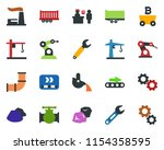 colored vector icon set  ... | Shutterstock .eps vector #1154358595