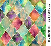 watercolor argyle abstract... | Shutterstock . vector #1154359372