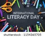 international literacy day.... | Shutterstock . vector #1154365705