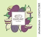 background with eggplant  full... | Shutterstock .eps vector #1154371585