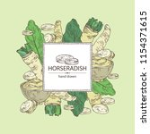 background with horseradish ... | Shutterstock .eps vector #1154371615