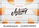 autumn sale background layout... | Shutterstock .eps vector #1154374945