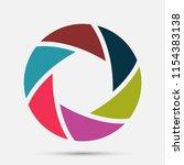 camera shutter icon | Shutterstock .eps vector #1154383138