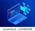 isometric website banner of e... | Shutterstock .eps vector #1154383498