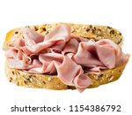 close up of italian mortadella... | Shutterstock . vector #1154386792